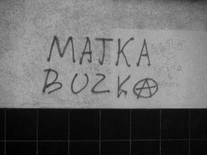 Matka Buzka graffiti na Pocztowej